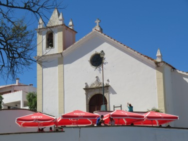 The church steeple in Alcoutim, Portugal