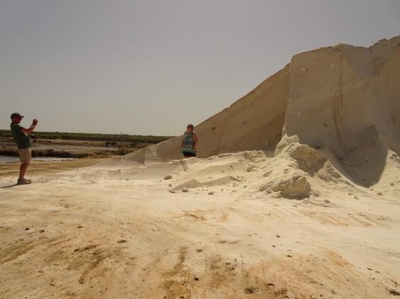 Dump trucks full of salt have made a huge dent in the salt.
