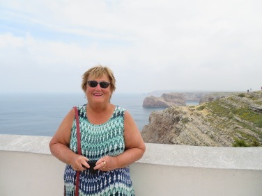 The most westerly point in the Algarve.....she waved at my Mother and Walter.