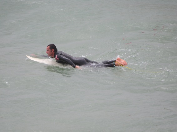 This surfer was tenacious but never did make it up for more than 20 seconds