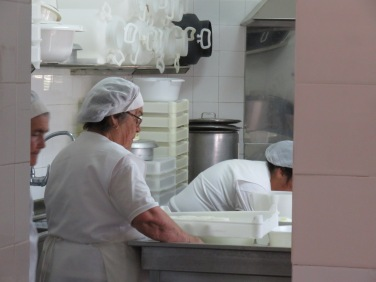 We stopped in the tiny cheese factory where they make fresh goat cheese........the smell was sublime.