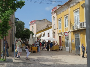 One of the side streets in Loule contained a craft sale.