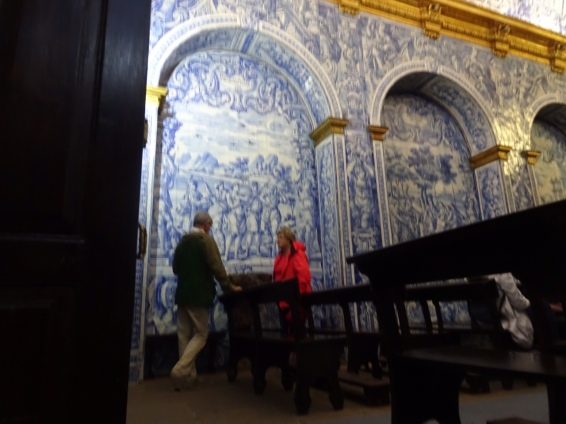 """This """"boot legged"""" photo is of Pat and myself admiring the tile detail."""