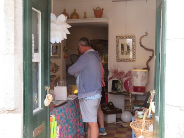 Marc and Patricia happily perusing the lovely tile work in this, one of our favourite stores in Tavira.