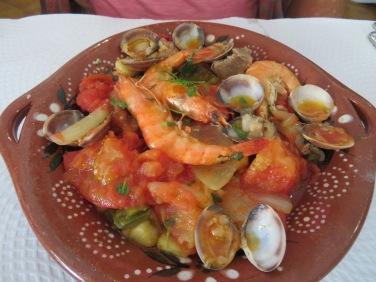 Patricia's seafood cataplana.