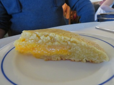 Marc's pumpkin and almond cake.....his very very favourite in the Algarve.