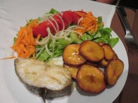 Patricia enjoyed baked cod and sweet potatoes
