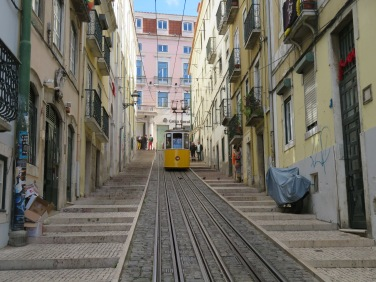 WE eventually took this cable car back up this hill.