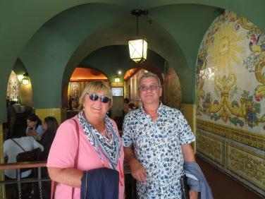 Inside the oldest bar in Lisbon.