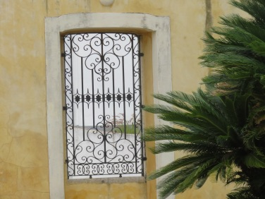 A window in the garden of the Pousada
