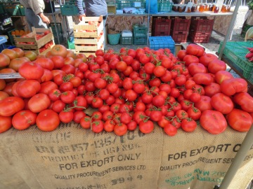 Tomatoes are sweet all year long here as they grown them in green houses......they are incredibly inexpensive.