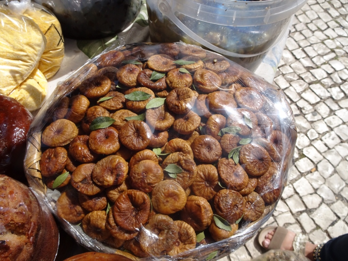 Fresh dried figs with mint....oh how my mouth watered.