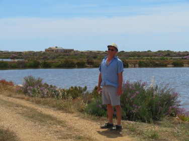 Despite the intense heat, Marc enjoyed this walk across the flats to town. I can report that he did not melt!!